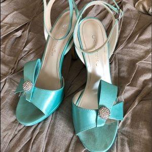 Caparros Seafoam Strappy Heels!